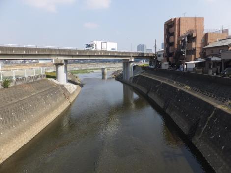 平瀬橋人道橋より平瀬河口を望む