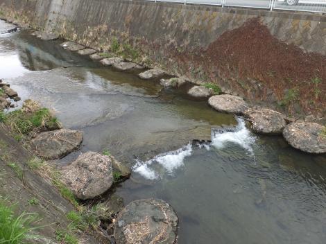 自然な床固工(落差工)・平瀬川別所橋上流