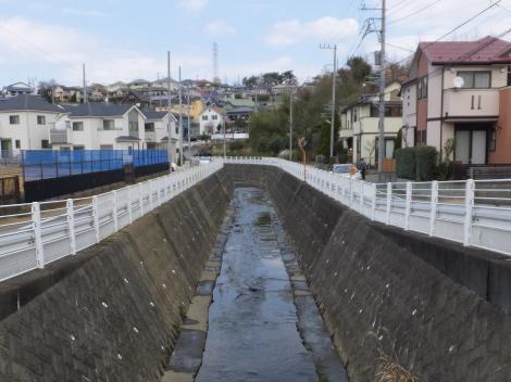 白羽毛橋より平瀬川上流を望む