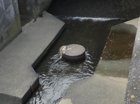 平瀬川・住二所堰揚水施設、河川表流水取水弁