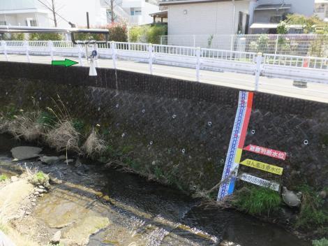 平瀬川栄橋の雨量水位監視カメラ