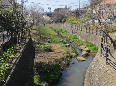 柳橋より平瀬川上流を望む