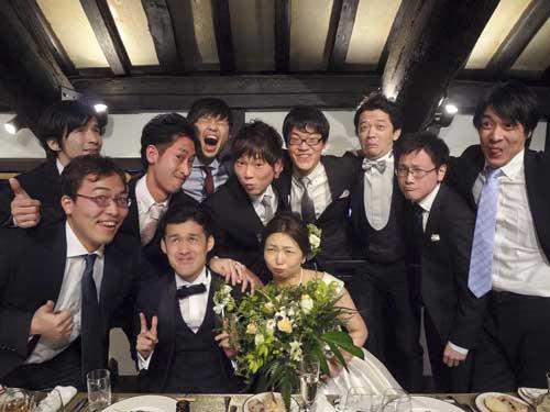 結婚式に来てくれた仲間たち