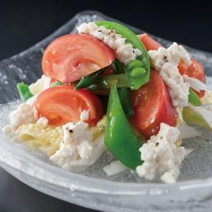 1603_塩熟トマトと春豆の塩豆腐サラダ