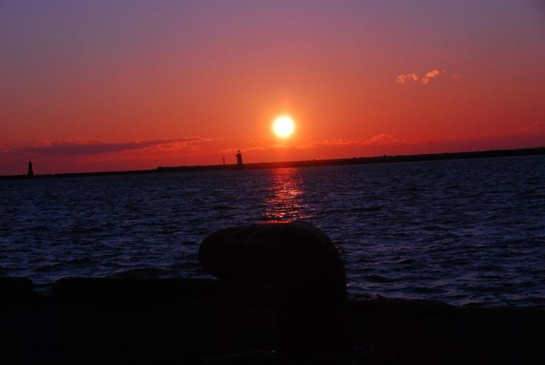 釧路 港の夕日・・・