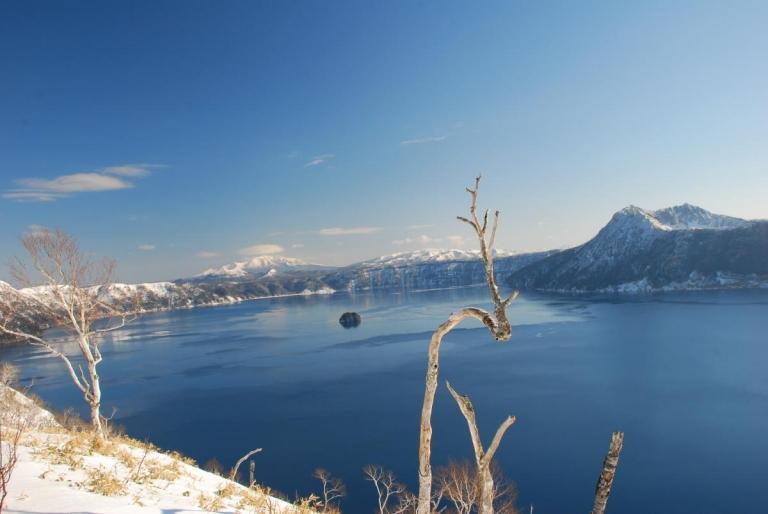 摩周湖 スノーシューで第三展望台へ