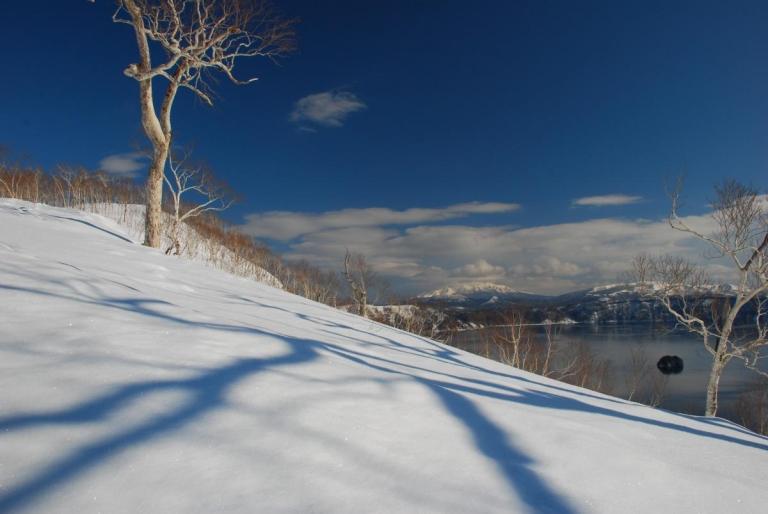 摩周湖 スノーシュー散歩