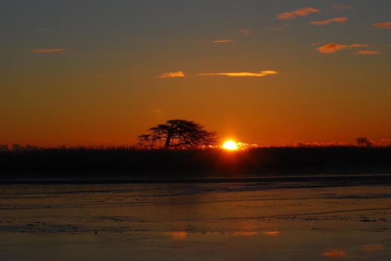 オホーツク海からの日の出