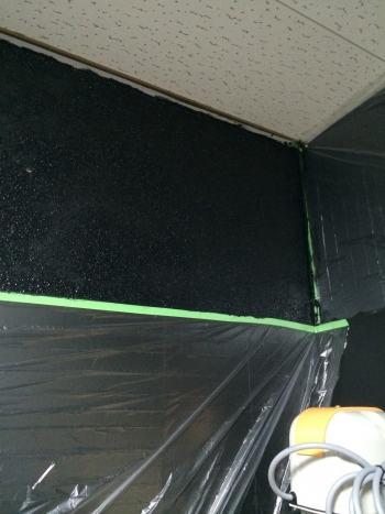 水槽部屋の壁塗装02