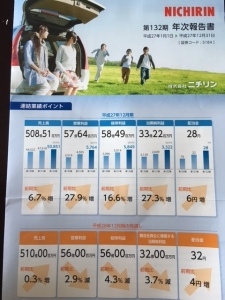 ニチリン決算報告2016