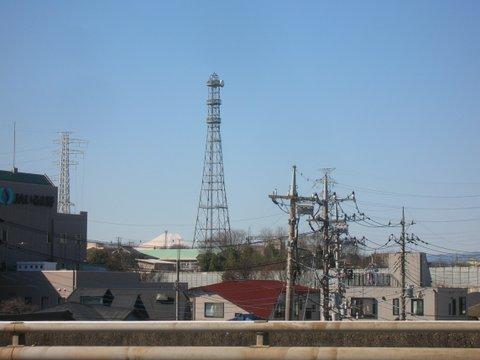 霞川橋から富士山