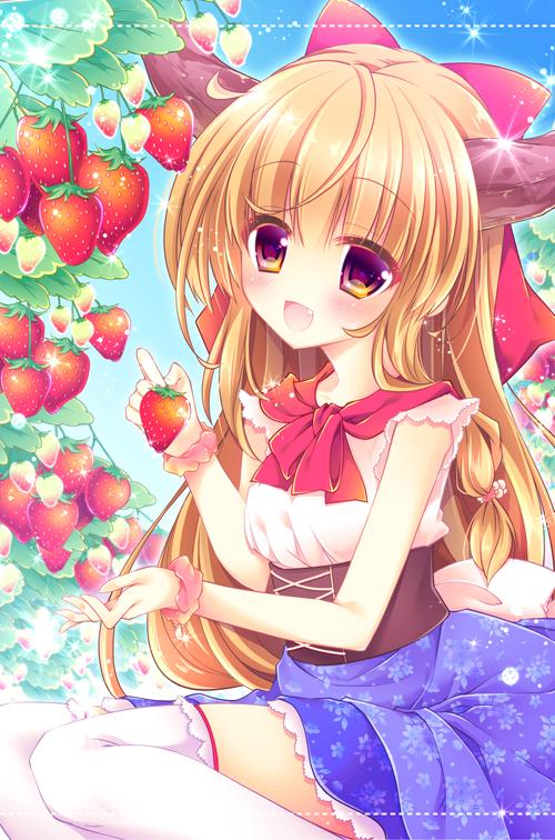 イチゴ狩り萃香嬢タペストリー