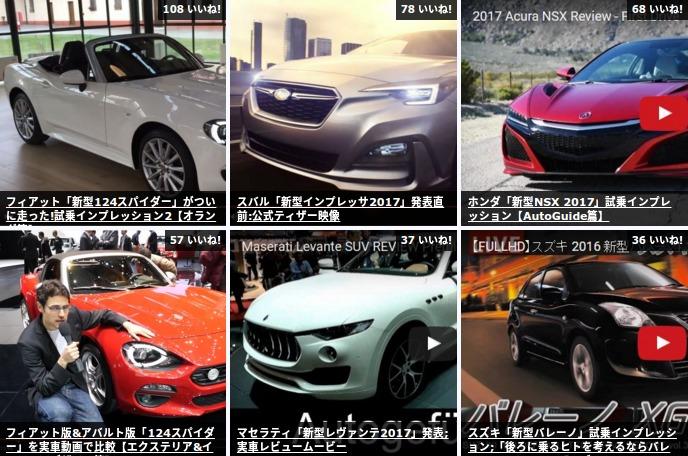 【人気動画Ranking】新型NSX、124spider、バレーノなど新モデル試乗レビュー【3月4週】 Ethical LifeHack