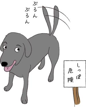 しっぽをふる犬