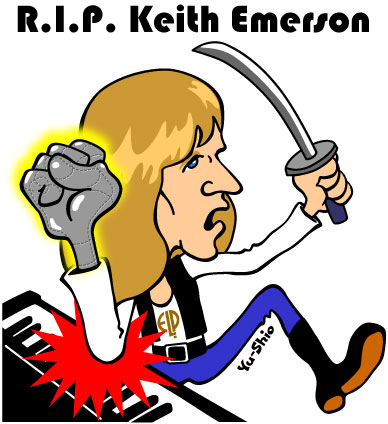 Keith Emerson caricature