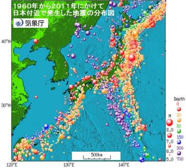 地震分布図