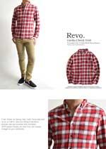 チェックシャツ 赤 メンズ