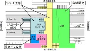 JR茨木駅改良工事予定図