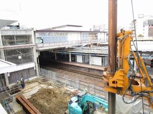 JR茨木駅工事 (1)