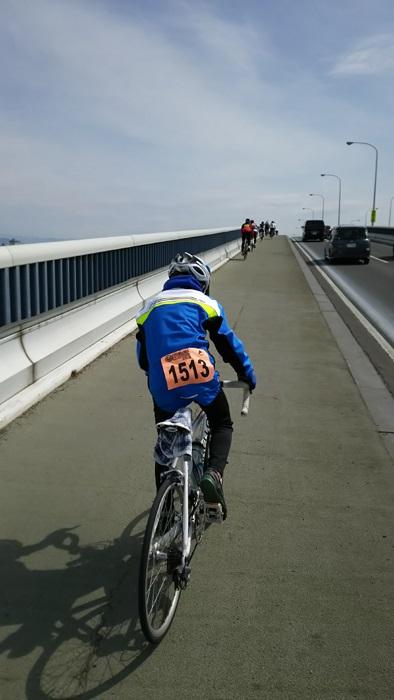 20160313ビワイチ琵琶湖大橋上り01