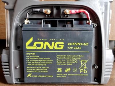 大字工業 メルテック SG-3500LEDのバッテリー交換