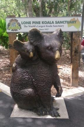 入り口のコアラ