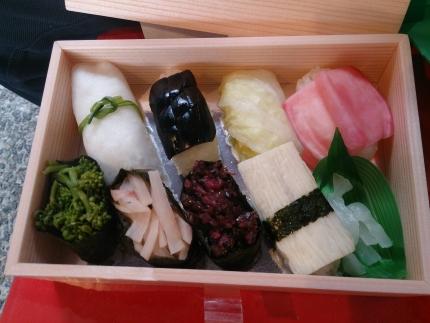 お漬物お寿司