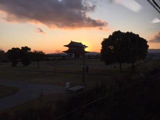 平城京夕景
