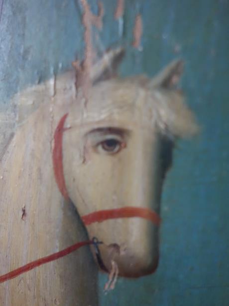ロシアイコン 白馬に乗った、聖ジョルジュ (11)