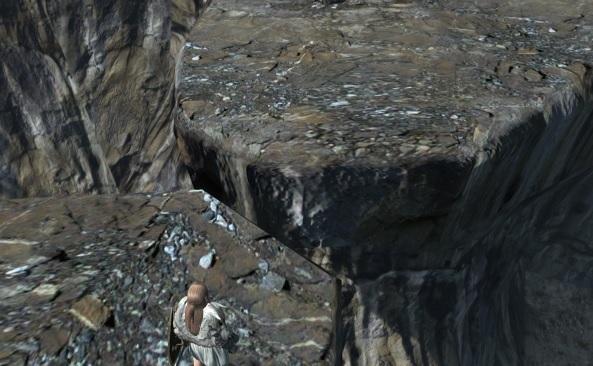 途切れた崖