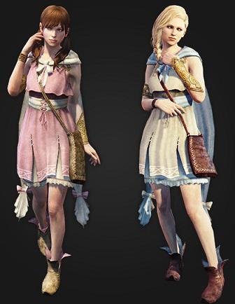 古種族少女の服