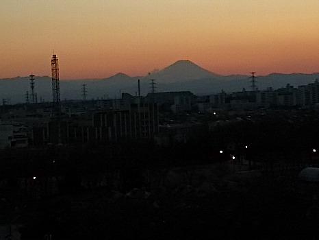 富士山冬の夕暮れ