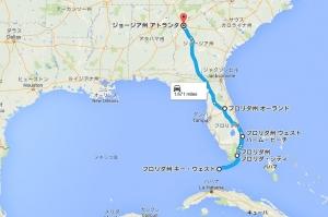 2015-16年越しフロリダ旅行マップ2