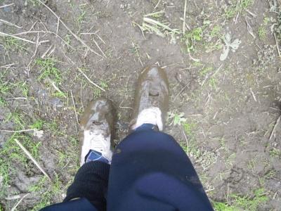 駒ヶ滝途中で泥んこ160401