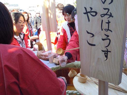 豊年祭のお神酒。