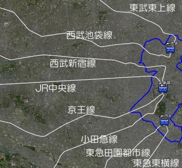 副都心と鉄道路線
