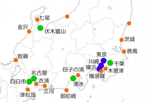 関東中部の港