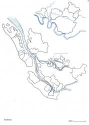 ボルドー白地図