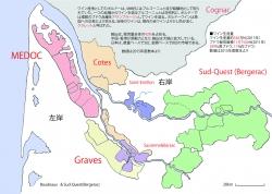 ボルドー全域着色地図