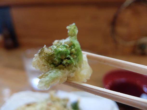 かきとふきのとう天ぷら