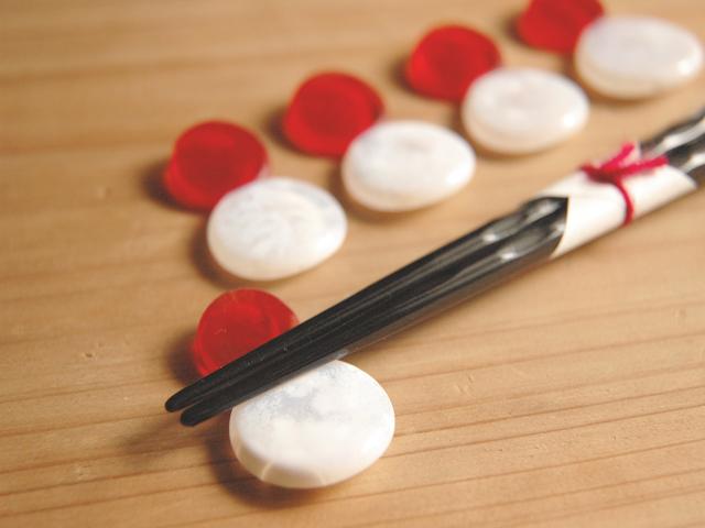 enお箸置き(紅白)