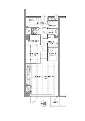 ローレル永田町 318号室図面400