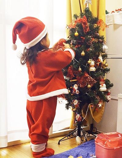 子供サンタの服全身