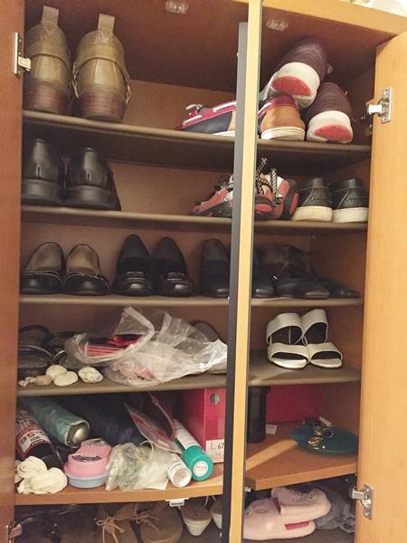 靴箱上段 ビフォー