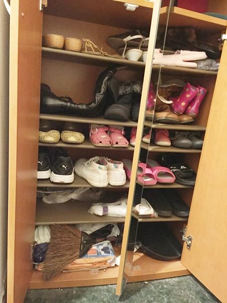 靴箱下段 ビフォー