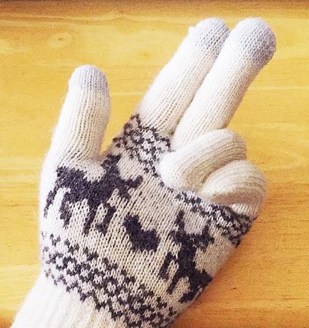 スマホ手袋タッチパネル対応指