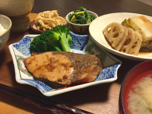 Jan25_ぶりの生姜煮