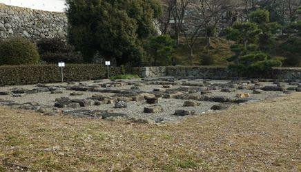 黒田当時の姫路城石垣