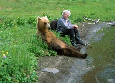 撃たれて死んだ熊が三途の川でさっき食ったおばあさんに再開