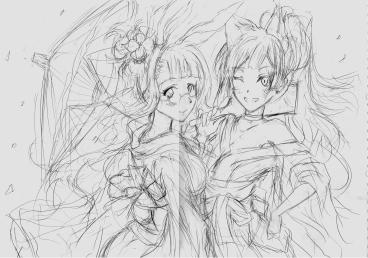 Grace【エリィ&ルビィ】謹賀新年イラストラフ